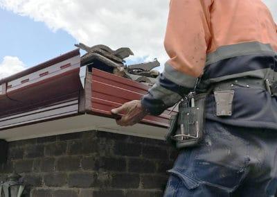 Guttering Installation roof corner