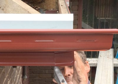 Guttering Installation corner completion