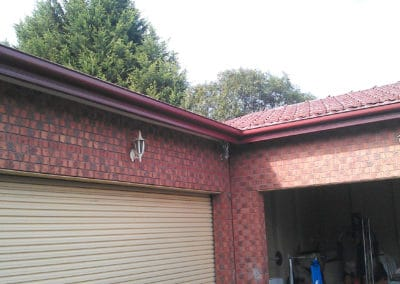 New Gutters garage section of house