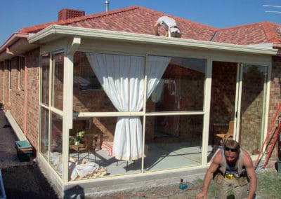 New Gutters sun room view